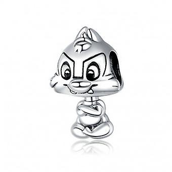 Sterling Sølv Charm Cute Egern - 6724