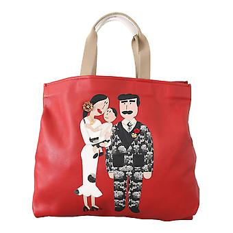 Red dgfamily maria hand tote purse