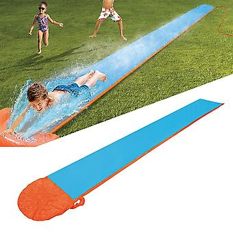 Inflatable Water Slide Racer Pool- Kids Summer Park Backyard Play Fun Outdoor Splash Slip Slide Wave Rider (blue)