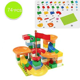 Plastique Funnel Slide Big Size Bricks, Marble Race Run Maze Ball Track Building