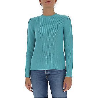 Elisabetta Franchi Mk26s06e2r23 Mulheres's Suéter de Lã Azul Claro