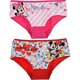 2 Hipster Minnie Mouse - Rosa/Rot