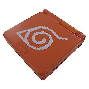 Housing shell for game boy advance sp nintendo full replacement mod kit naruto edition - orange | zedlabz