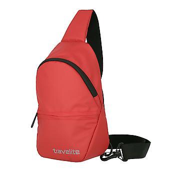 travelite Grunderna liten crossover ryggsäck presenning 29 cm, röd