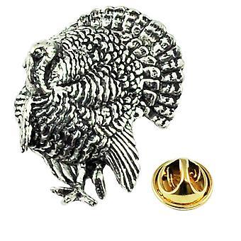 Ties Planet Turquie Oiseau Anglais Pewter Lapel Pin Badge
