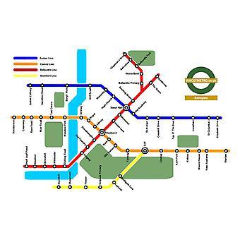 Wacky Metro Map Bathgate by Wacky Metro