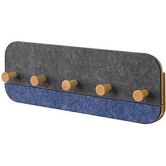 SoBuy FHK16-SG, Wall Coat Rack Shelf with 5 Hooks