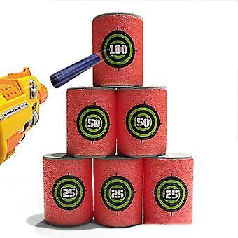 Foam Drink Bottle Bullet Training Supplies Toy, Targets Shot Dart Nerf Set