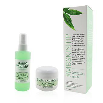 Cucumber mask & mist duo set: facial spray with aloe, cucumber and green tea 4oz + cucumber tonic mask 2oz 245048 2pcs