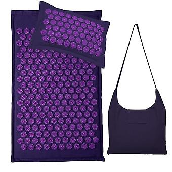 Acupressure spike massage yoga mat with acupuncture pillow