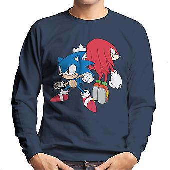 Sonic der Igel und Knöchel verteidigen Männer's Sweatshirt