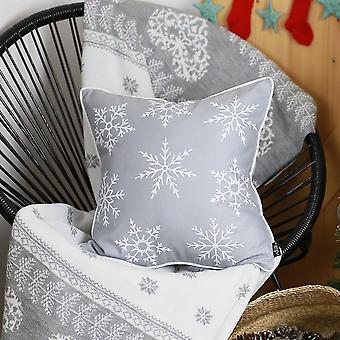 طبع عيد الميلاد الثلج رمي غطاء وسادة