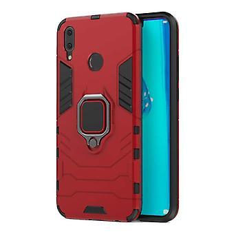 Keysion Huawei Y7 Pro 2019 Case - Magnetische schokbestendige hoes Cas TPU Red + Kickstand