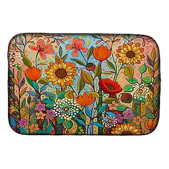 Carolines Treasures PPD3017DDM Joy in the Morning Flowers Dish Drying Mat