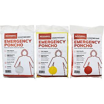 Poncho d'urgence taille adulte - Couleurs assorties