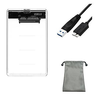 5gbps 2.5'' Transparent Hdd Case Sata 3.0 To Usb 3.0 External Hard Disk Drive