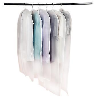 6 sacos de roupas transparentes com Zipper - sacos individuais para roupas Mens ternos jaquetas saias camisas