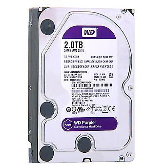 "Wd Purple Surveillance 2tb Disque disque dur Sata Iii 64m 3.5"" Hdd Hd Harddisk"