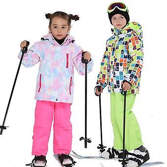 キッズ防風、防水ウォームユニセックススキースーツ