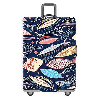 Travel Luggage Protector Fish Print