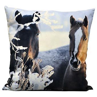Two Ponies Cushion 45cm
