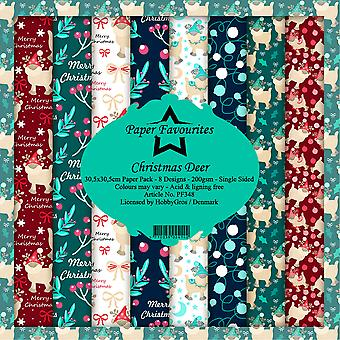 Paper Favourites Christmas Deer 12x12 Inch Paper Pack