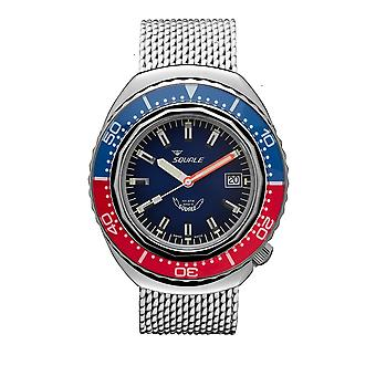 Squale 2002.SS.BLR.BL.ME22 1000 Meter Swiss Automatic Dive Wristwatch Mesh