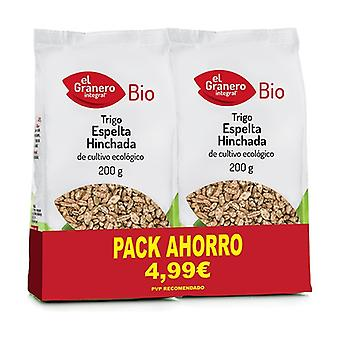 Organic Puffed Spelled Wheat Pack 2 units of 200g