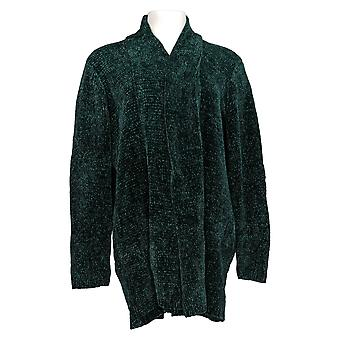N'importe qui Femmes-apos;s Sweater Chenille Relaxed Blazer Cardigan Green A310158