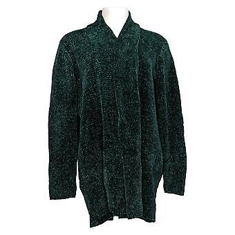 Qualsiasi donna 's Maglione Chenille Rilassato Blazer Cardigan Green A310158