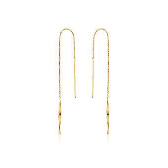 Ania Haie Sterling Prata Brilhante Ouro Banhado Helix Threader Brincos E012-03G