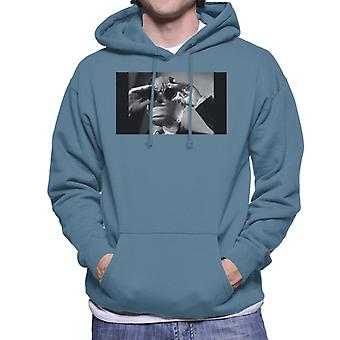The Invisible Man Touching Glasses Men's Hooded Sweatshirt