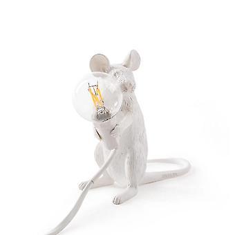 Lampe nordique de souris de résine animale