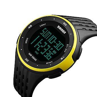 Ceas digital pentru bărbați, afișaj led, impermeabil, ceasuri de mână de sex masculin, cronograf,
