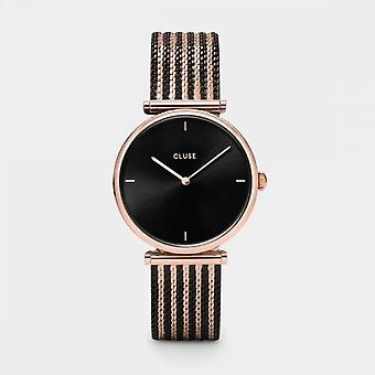 Cluse Ladies Triophe Rose Gold Circle Quartz Fashion Watch CW0101208005