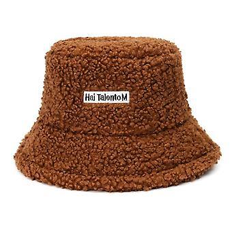 Lamb Faux Fur Bucket Thickened Warm Velvet Winter Hats/fisherman