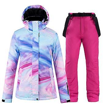 Nouvelle couleur épaisse combinaison de ski chaude imperméable à l'eau imperméable à l'eau vestes de neige extérieures et
