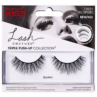 Kiss Lash Couture Triple Push-up Collection Reusable False Eyelashes - Garters
