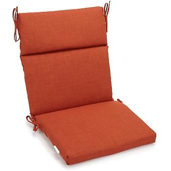 Coussin de chaise carrée extérieure en polyester de 18 pouces par 38 pouces - Cannelle