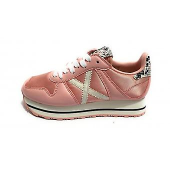 Shoes Women Munich Sneaker Mod. Massana Sky Leather Pink\white 120 Ds20mu03