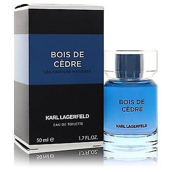 Bois De Cedre Eau De Toilette Spray By Karl Lagerfeld 1.7 oz Eau De Toilette Spray