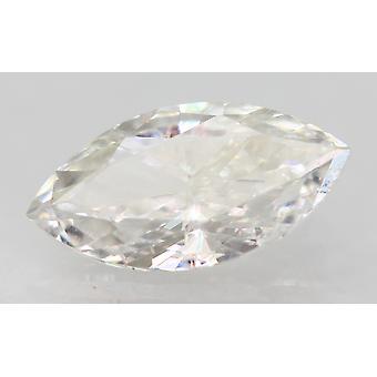 Sertifioitu 0,55 karat F VVS2 markiisi paranneltu luonnollinen löysä timantti 8.62x4.4mm