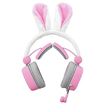 Rabbit ears headset 3.5mm gaming passive noise cancelling 7.1 virtual channel live