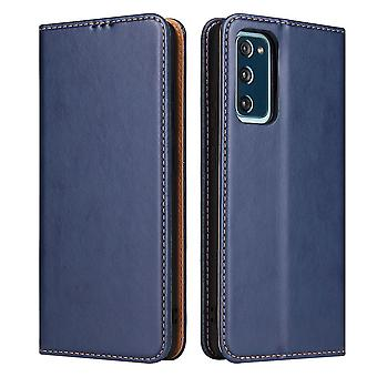 Para Samsung Galaxy S20 FE (Fan Edition) Case Leather Flip Wallet Capa Azul