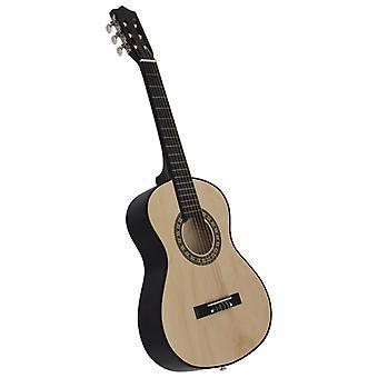 """vidaXL Klassinen kitara aloittelijoille ja lapsille 1/2 34"""" Basswood"""