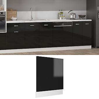 vidaXL dishwasher hood high gloss black 59.5x3x67 cm chipboard