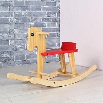 Dzieci Solid Wood Dzieci Rocking Horse, Krzesło Ride On For I