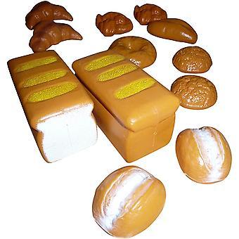 FengChun Spielzeug Bckerwaren Set, A103, 12 tlg. Set fr den Kaufmannsladen - Brot, Brtchen, Kuchen,