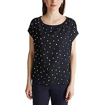 ESPRIT Collection 030eo1k329 T-Shirt, Blue (400 / Navy), S Woman