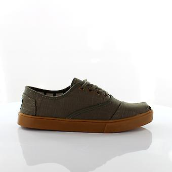 Toms Cordones Dusty Olive Heritage Canvas Cupsole Mens Trainers 10014475